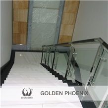 Super White Glossy Nano Crystallized Stone Stairs