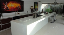 Super White Marmoglass Stone for Reception Tops