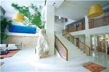 White Crystallized Stone Stairs,Nano Stone Stairs