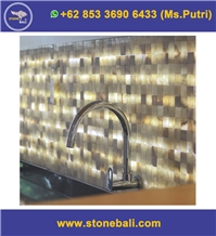 Bali Honey Brown Onyx Mosaic