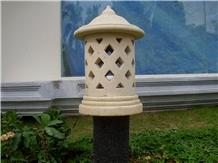 Bali White Limestone Garden Lanterns