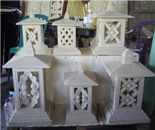 Indonesia White Limestone Landscaping Lanterns