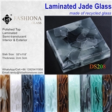 Laminated Jade Glass,Backlit,Interior & Exterior.