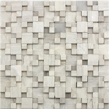 Chinese Wooden Grain Grey Marble Mosaic Tile