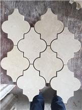 Cream Marfil Lantern Design Marble Mosaic Tile