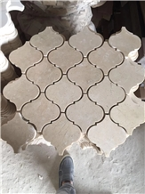 Crema Marfil Lantern Polished Marble Mosaic Tile