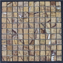 Tropical Rainforest Brown Nature Marble Mosaic
