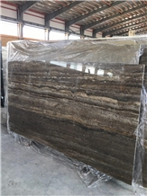 Kashan Silver Travertine,Silver-Brown Travertine