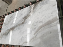 Castro White Marble Slab Machine Cut Tiles