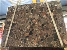 Inexpensive Colorful Red Granite Stone Flooring