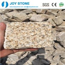 Chinese Cheap Yellow Granite Outdoor Cube Pavers