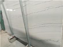 Bianco Macaubas Quartize Slab,White Wall Cladding