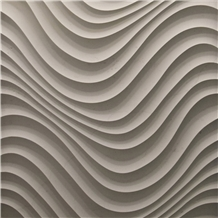 Curl 3d Carved Marble Wall Panel