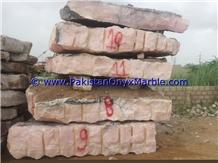Afghan Pink Onyx Blocks, Natural Stone Blocks