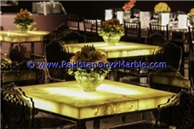 Backlit Onyx Tables Tops Dining & Coffee Tables