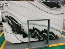 China Cheap Panda White Marble Slabs