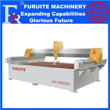 Cnc Water Jet Xyzab Axis Marble Granite Process