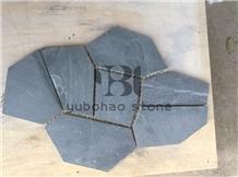 P018 Jiangxi Black Slate, Flagstones Wall Cladding