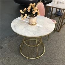 Carrara White Marble Restaurant Table Tops
