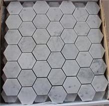 Calacatta White Italian Marble Hexagon Mosaic