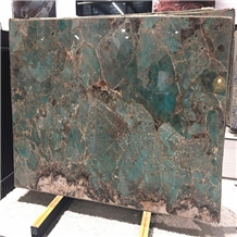 Amazon Green Quartzite Slabs for Feature Wall