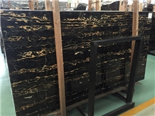 Italy Polished Portoro Gold Marble for Building