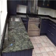 Lemurian Blue Granite Kitchen Countertops