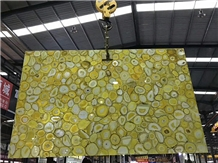 Yellow Agate Stone Slabs and Tiles