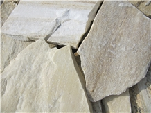 Vanilla Quartzite Flagstone Walling