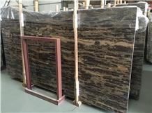Gold Coast Brown Marble Slabs & Flooring Tiles