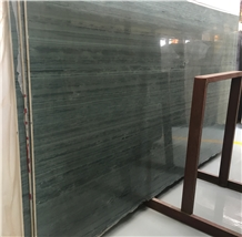 Green Wood Grain Marble Slabs & Wall Flooring Tile