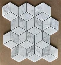 Honed Carrara Marble Mosaic Backsplash Tile Price