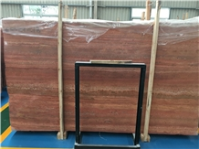 Iran Khalvangah Red Travertine Slabs & Floor Tiles