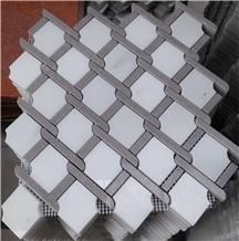 Luxury Bianco Carrara Lattice Marble Mosaic Tile
