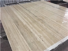 Travertine Silver Marthe Slabs Floor Tiles