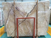 Whosale Feather Golden Spider Marble Slabs Price