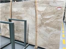 Whosale Polished Dino Beige Marble Slabs Price