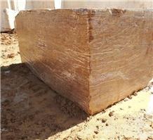 Persian Walnut Travertine Block, Iran Brown Travertine