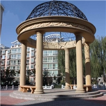 Big Hand Carved Marble Column Gazebo
