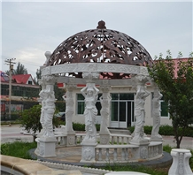 Classic Hand Carved Marble Figure Outdoor Gazebo