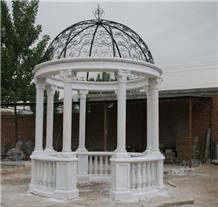 Nice Garden Stone Column Gazebo