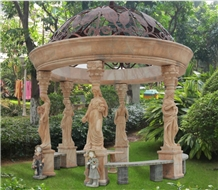 Nice Hand Carved Garden Sculpture Gazebo
