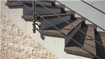Grey Porphyry Stair Treads, Porfido Fortebuso Steps