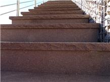 Porphyry Stair Treads, Porfido Gardena Steps