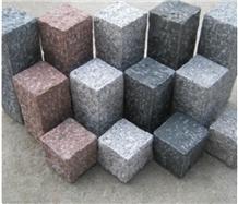 Cubic Granite Cobble Sets Landscaping Stones