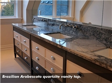 Brazilian Arabescato Quartzite Vanity Top