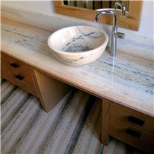 Rosa Valtoce Marble Vanity Counter Top,Wash Basin