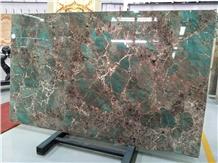 Luxury Brazil Green Quartzite Stone Amazon Green Slabs