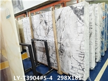 Natural Invisible Grey Gold Marble Slab