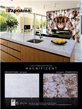 Diamond Crystal White Quartzite Slabs